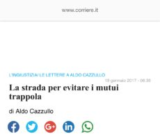 """Da il """"Corriere della Sera"""": La strada per evitare i mutui trappola"""