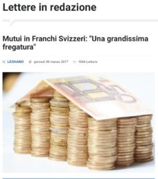 """Legnano News: Mutui in Franchi Svizzeri: """"Una grandissima fregatura"""""""